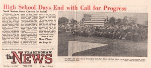 Framingham News Headline Story June 8, 1970