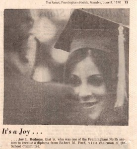 Joy Rodman receives diploma